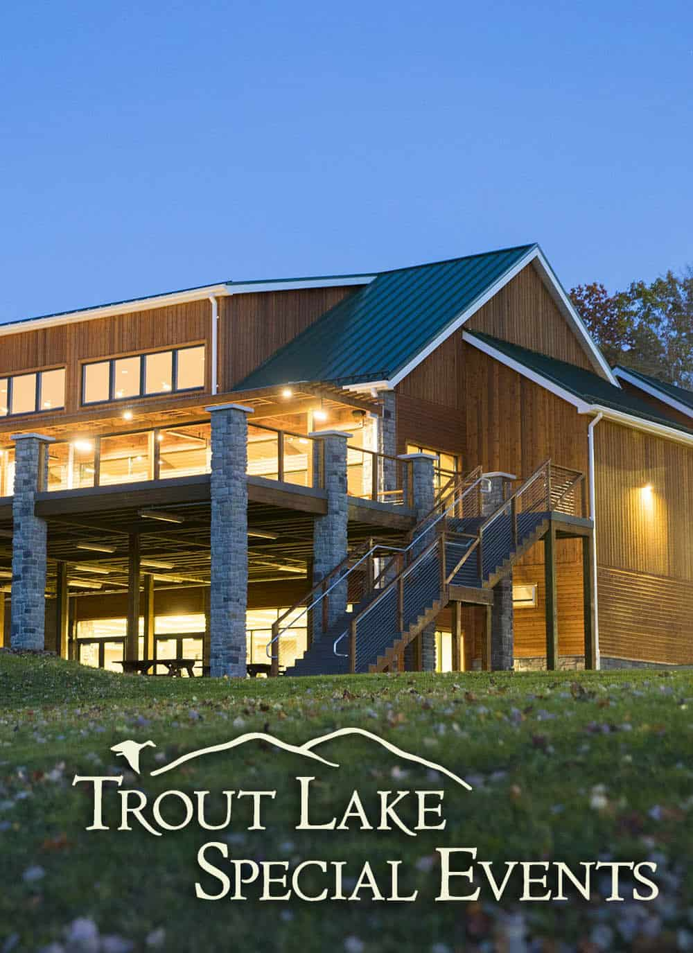 trout lake retreat at night